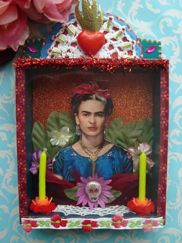 Frida Kahlo shrine by filzgood