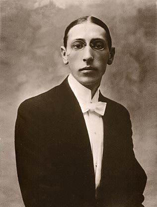 "Igor Stravinsky in 1910, the year he composed ""The Firebird"" ballet."