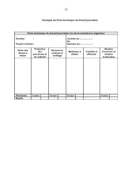 Rapport Journalier De Chantier Btp Chantier Exemple De