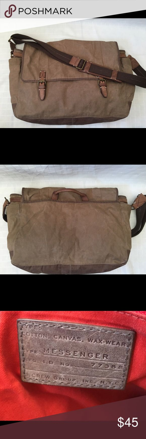 Wax Canvas Messenger bag Some discoloration, great bag for school. Very durable. Bags Crossbody Bags