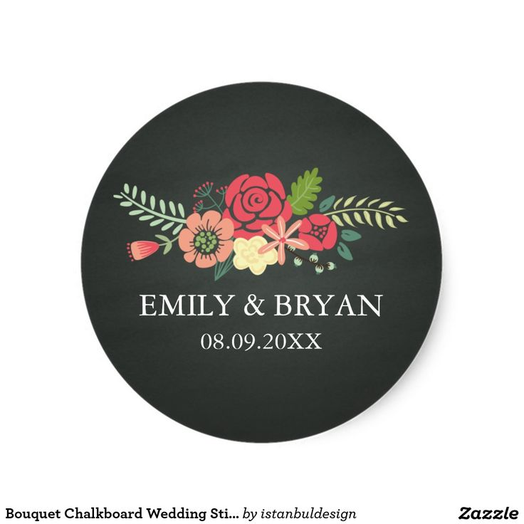 Bouquet Chalkboard Wedding Sticker 49 best Floral