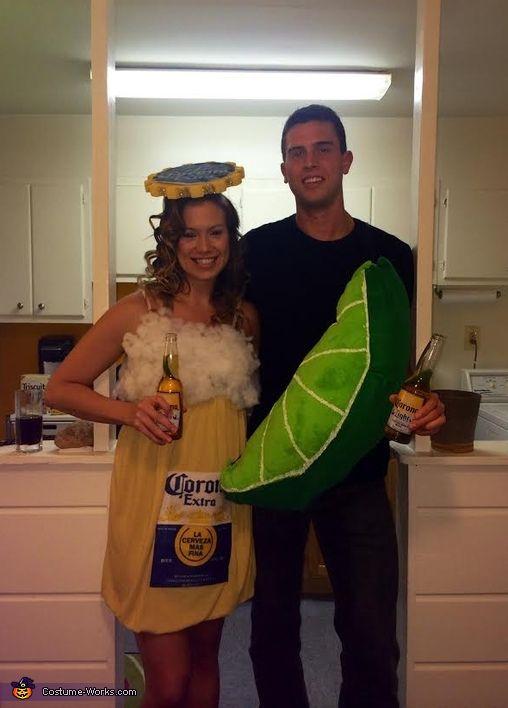 Corona & Lime Homemade Couple Costume - Halloween Costume Contest via @costume_works