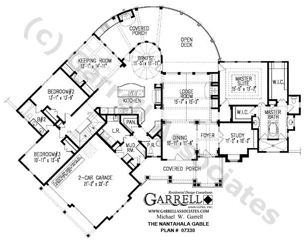 Nantahala cottage gable house plan 07330 1st floor plan for Nantahala floor plan
