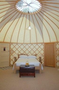Yurt on the beach, Priory Bay Hotel, Isle of Wight, England