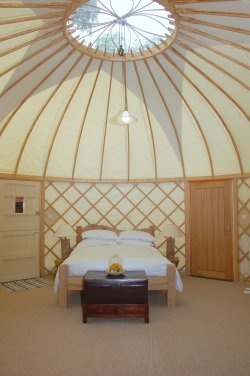 Yurt on the beach, Priory Bay Hotel, Isle of Wight, England