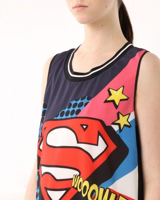 Superman top Iceberg #Iceberg #tank #cartoon #fashion #style #stylish #love #socialenvy #me #cute #photooftheday #beauty #beautiful #instagood #instafashion #pretty #girl