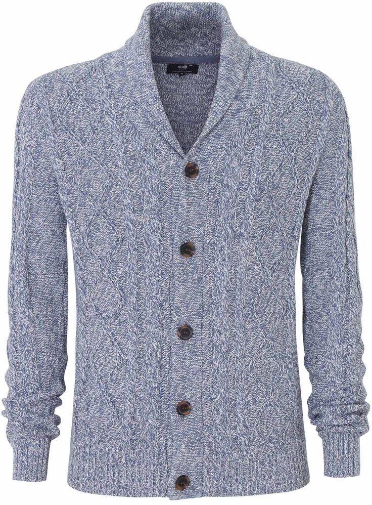 Трикотажный жакет oodji  для мужчин недорого в интернет-магазине мужской одежды oodji