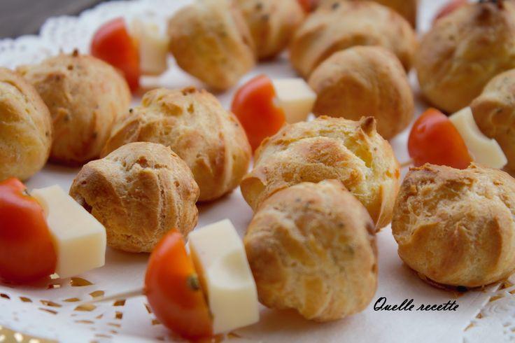Gougères salées «pâte à choux salée»