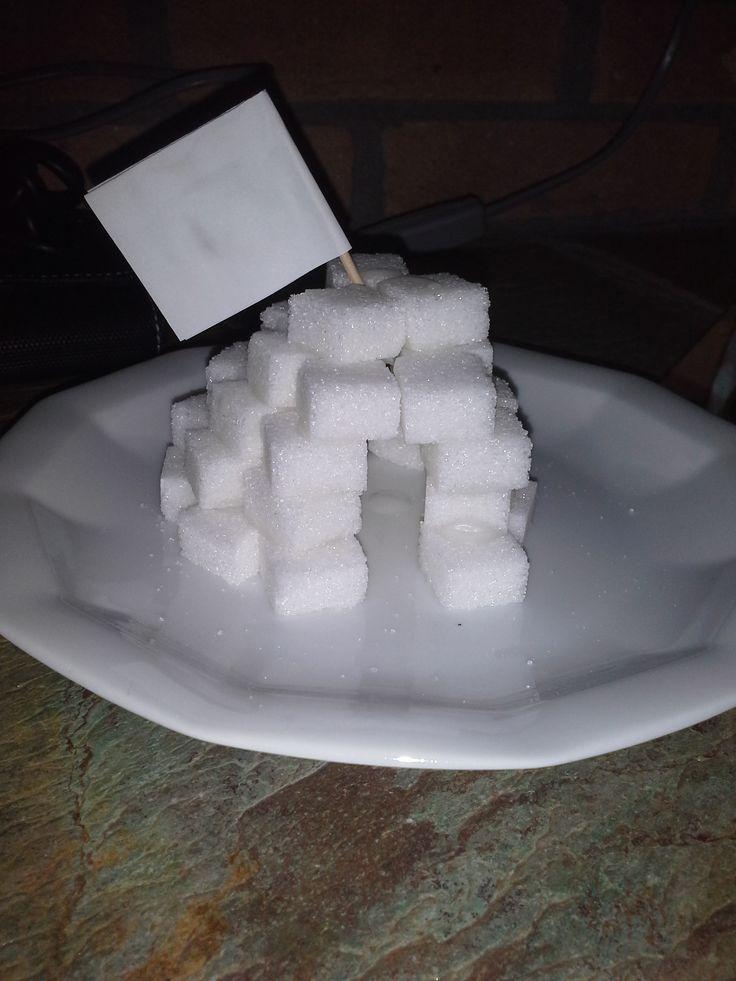 Denise Webbink• 3 dagen geleden  Met suikerklontjes een iglo bouwen. Technisch en creatief bezig zijn...leuke winter activiteit!
