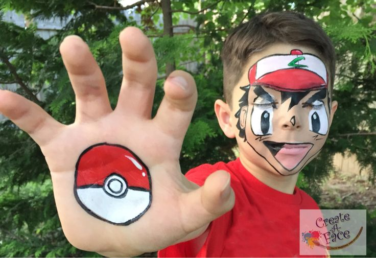 Impressive Pokemon Face Painting.