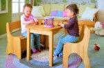 297EUR,  BioKinder | Spar-Set: Levin Kindersitzgruppe komplett, Tisch, Bank, Stuhl Erle