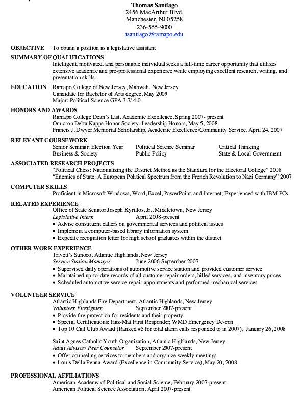 Sample Of Legislative Assistant Resume - http\/\/resumesdesign - full stack developer resume