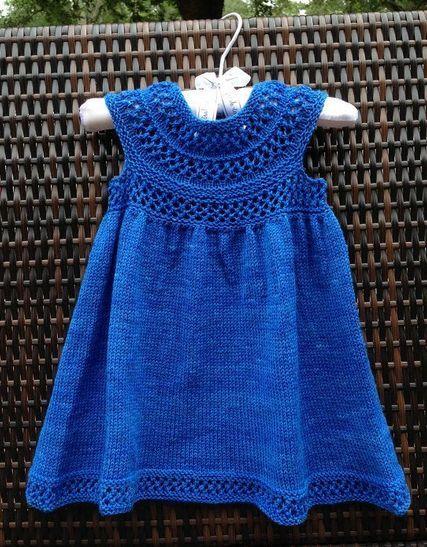 örgü kız bebek elbise modeli