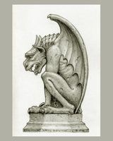 "The ""Hell-bound"" gargoyle was produced in limited numbers as a large plaster statue. Skylight studios, outside of Boston Ma, did the production work during the mid to late 1990's."