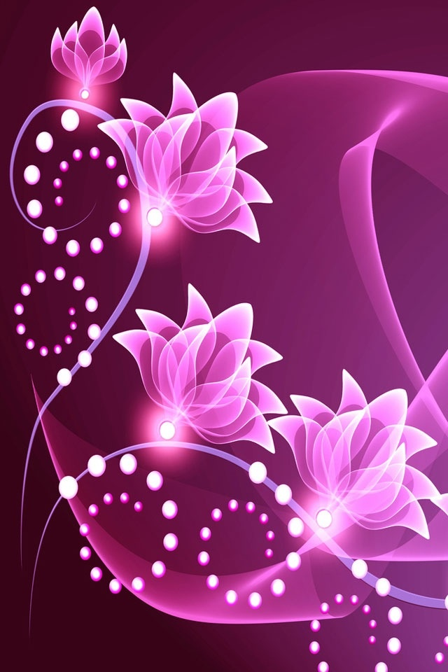 pretty purple flowers iphone wallpaper - photo #17