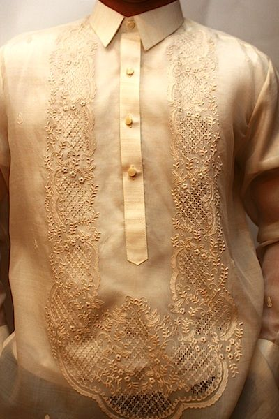 ENA: Barong Tagalog patterns for the cake