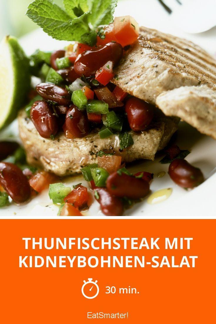 Thunfischsteak mit Kidneybohnen-Salat