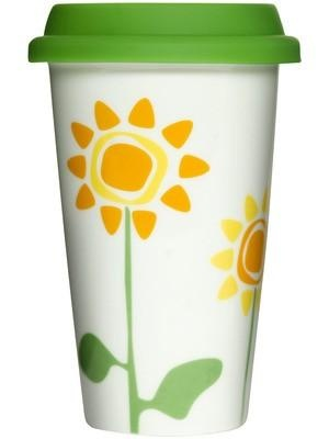 flowery take-away mug.