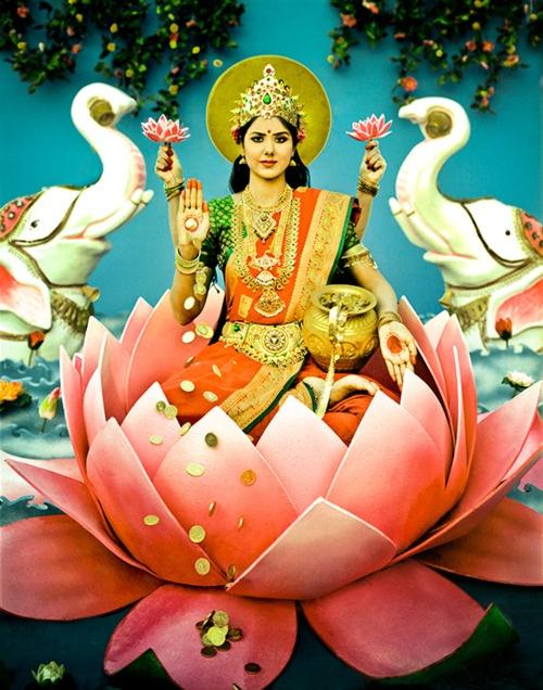 Lakshmi- Goddess of Wealth & Prosperity- Material & Spirit. She Resides in All of Us As We Reside in Her.