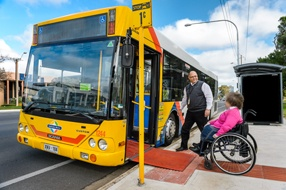 Getting around in Australia on public transport is improving for those with a disability. Visit here for more information   https://www.infrastructure.gov.au/transport/disabilities/index.aspx