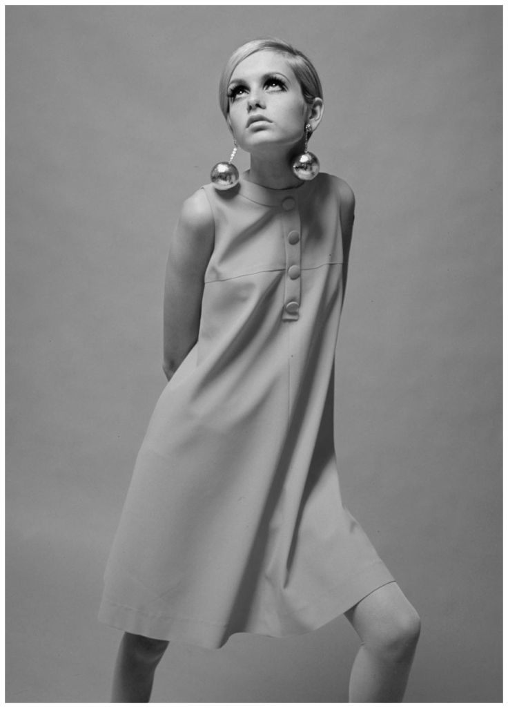 Twiggy became synonymous with Quant's designs during the Sixties, in particular this pink a-line dress from 1966 Popperphoto