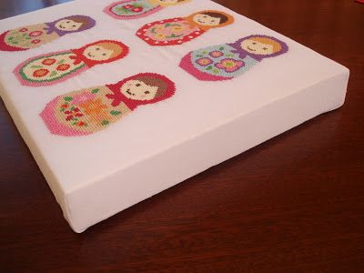 cupcake cutie: How to mount Cross stitch onto a canvas
