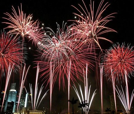 Fashion and Art Trend: Colorful Fireworks