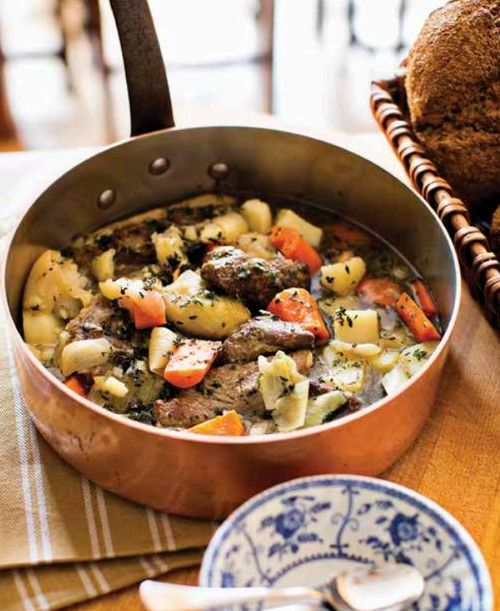 """Skip the Corned Beef and Cook Up an Authentic St. Patrick's Day Feast Irish Stew with Piccalilli from """"My Irish Table"""" by Cathal Armstrong and David Hagedorn"""
