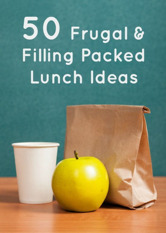 50 Filling and Frugal Packed Lunch Ideas.  Feeding a Family can be expensive but there are ways to make it cost less.  This is great for those of you needing a bit of help with meal planning and batch cooking your family meals to help you save some money when you're budgeting.