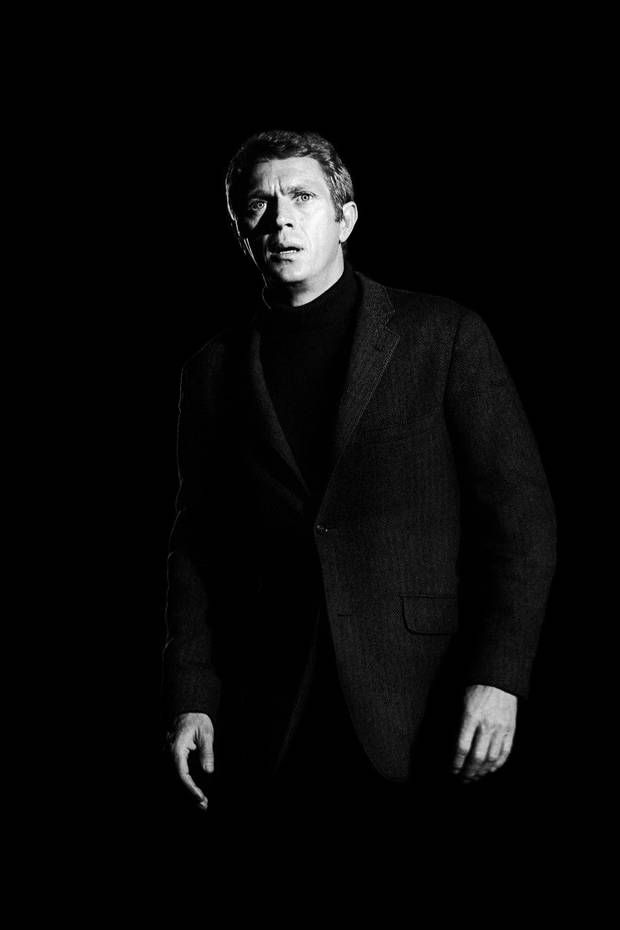 Film star: McQueen whilst shooting Bullitt (Picture: Barry Feinstein) - London Evening Standard