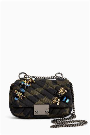 Камуфляжный принт Маленькая стеганая сумка