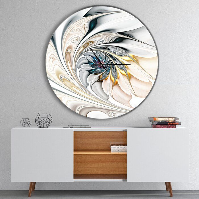 Stained Glass Floral Art Wall Clock In 2020 Wall Clock Modern Wall Clock Art Wall