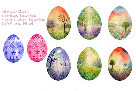 Check out Watercolor Lanscape Easter Eggs by Corner Croft on Creative Market?u=chengjing