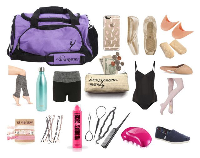"""""""Ballet Bag Essentials"""" by gabstiles on Polyvore featuring Casetify, Ballet Beautiful, Lemon, S'well, Tangle Teezer, TOMS and Dorothy Perkins"""