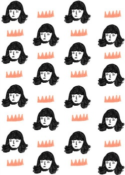 : Illustrations Ii, Prints Patterns Textile, Illustrations Lady, Faces Patterns, Girls Crowns, Faces Prints, Crowns Patterns, Amazing Patterns, Ji Hyun