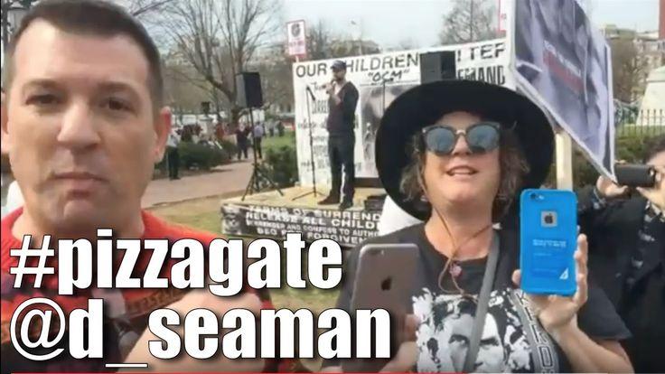 3.25.2017: David Seaman @ Pedogate/Pizzagate demonstration. Lafayette Sq...