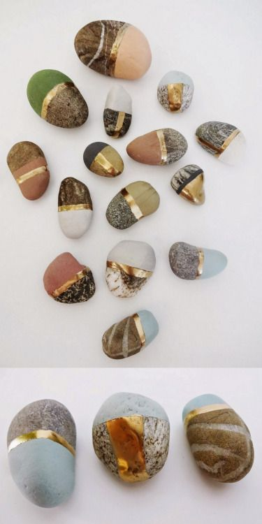 DIY Painted StonesPaint special found stones with chalk and… (TrueBlueMeAndYou: DIYs for Creative People)