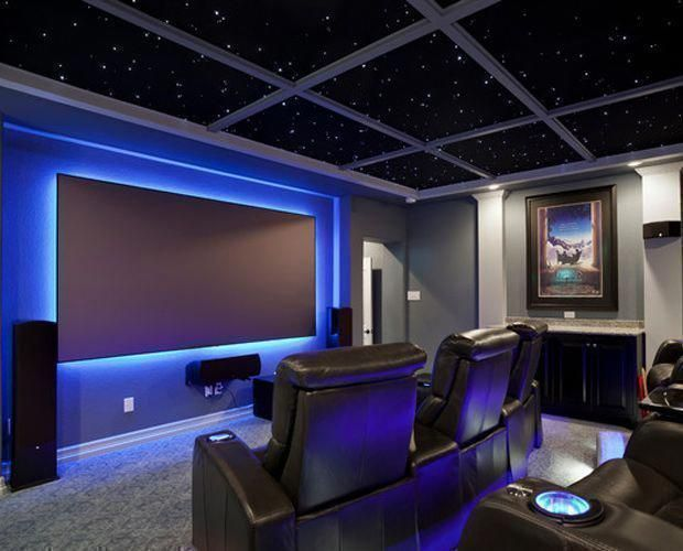 Diy Home Theater Decorations Ideas Basement Home Theater Rooms Red