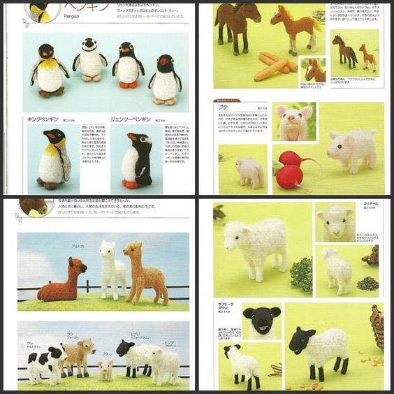 Ebook fieltro animales salvajes PDF patrones por Crafterica en Etsy