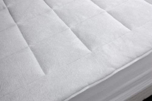 Rio Home Fashions Microplush Overfilled California King Mattress Pad, White