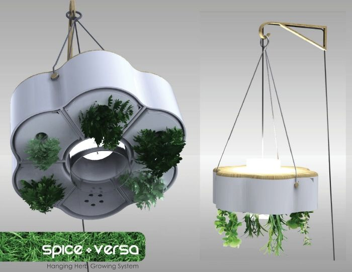 A light fixture that will grow my herbs? I can't see why not...   #hydroponic #planters #indoorgardening #design