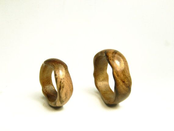 Unique Womens or mens wood wedding band Сomfort fit ring by ArsMakars