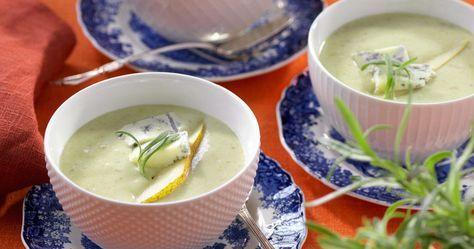 Potatissoppa med päron och gorgonzola – recept