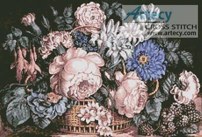 Flower Basket Counted Cross Stitch Pattern http://www.artecyshop.com/index.php?main_page=product_info&cPath=37_39&products_id=1339