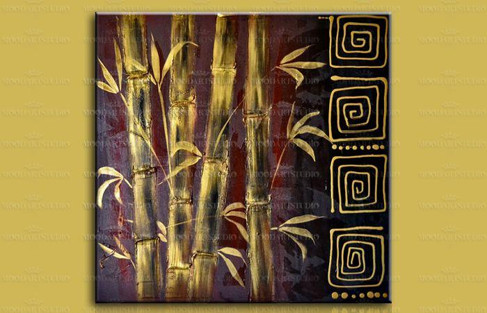 cuadros estilo oriental bambú tonos tierra de moodartstudio http://www.moodartstudio.es/es/cuadros-abstractos/49-cuadro-moderno-bambu-con-relieve-zenit-.html?search_query=zenit&results=1