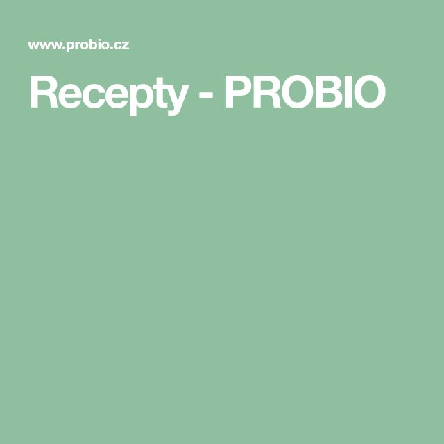Recepty - PROBIO
