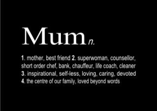 mum dictionary print