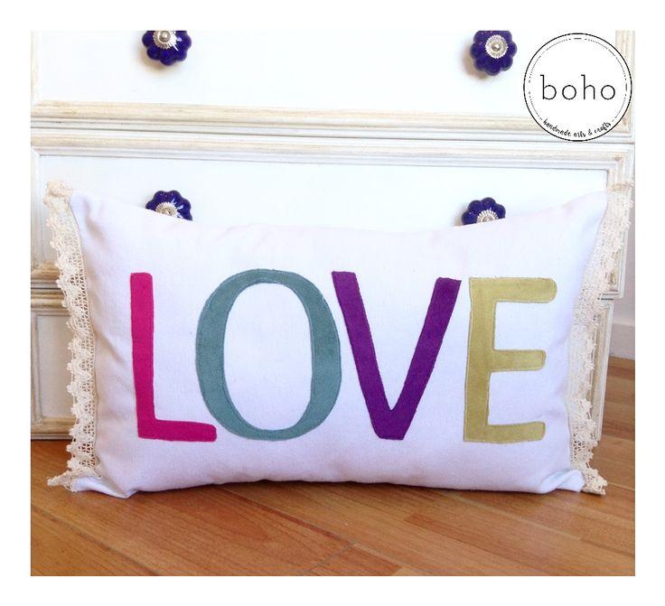 Love cushions - handmade cushions - almohadón Love