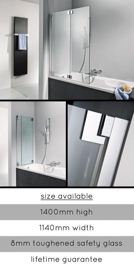 <span style='color: #000000;'>Luxury Folding Glass Bath Screen (64F)</span>