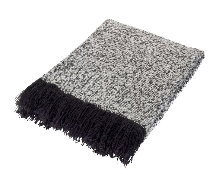 Whether draped across a sofa or layered with bedlinen, this monochrome knit throw instantly adds warmth and texture. Priced at £20